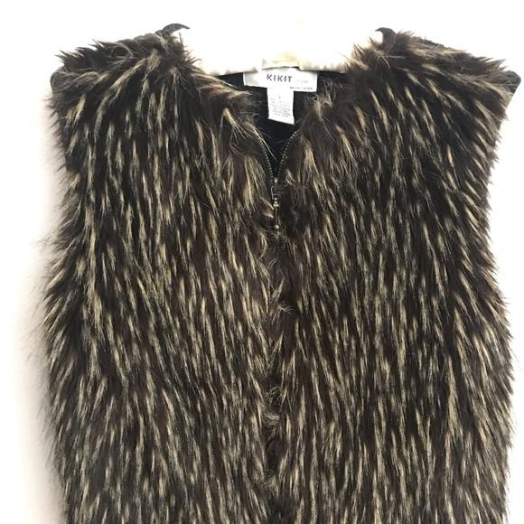 Kikit Studio Tops - Kikit Studio Maurice Sasson  Faux Fur Sweater Vest
